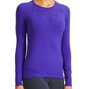 ATHLETA Namaste Long Sleeve Blue Workout XL
